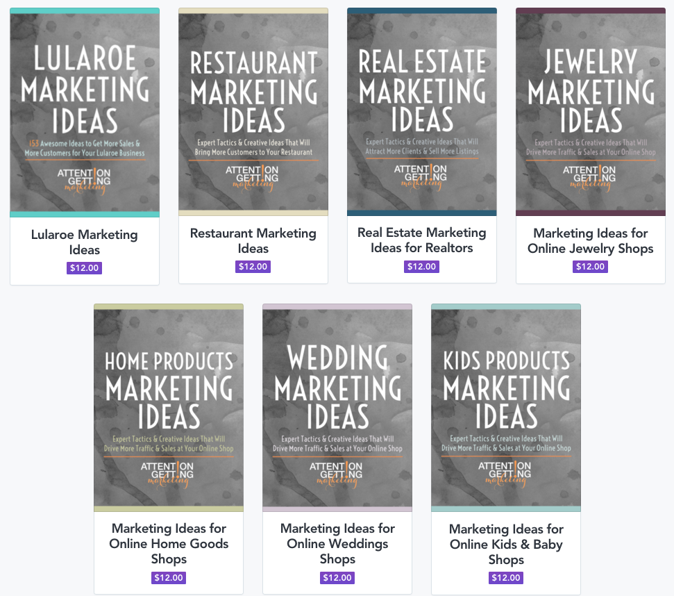 My Marketing Ebooks – Attention Getting Marketing