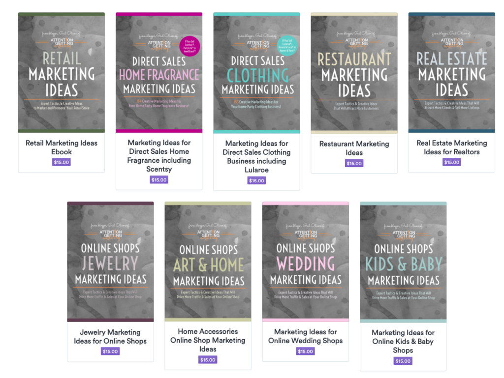 My Marketing Ebooks & Downloads - Attention Getting Marketing