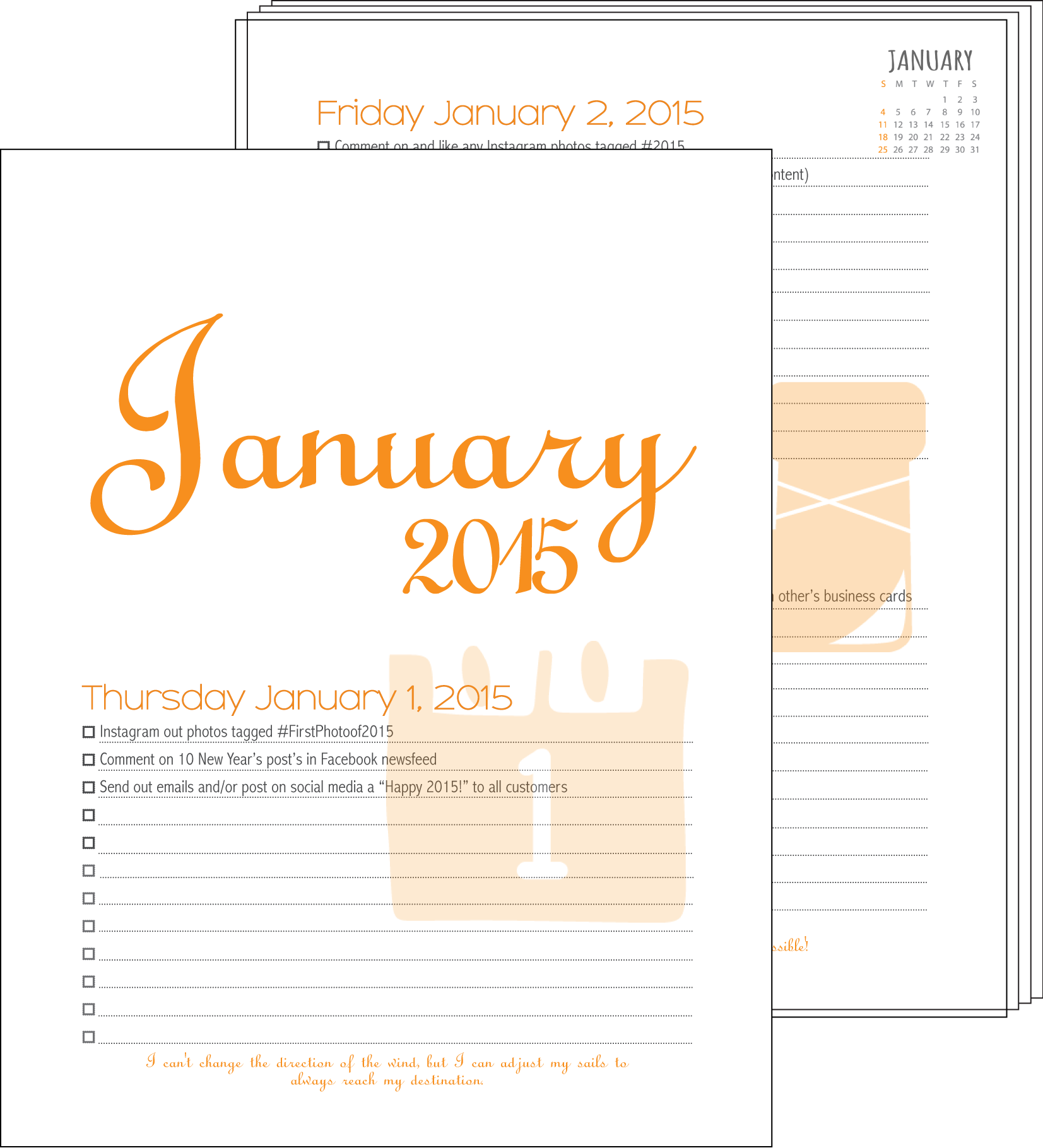 Marketing Calendar for 2015