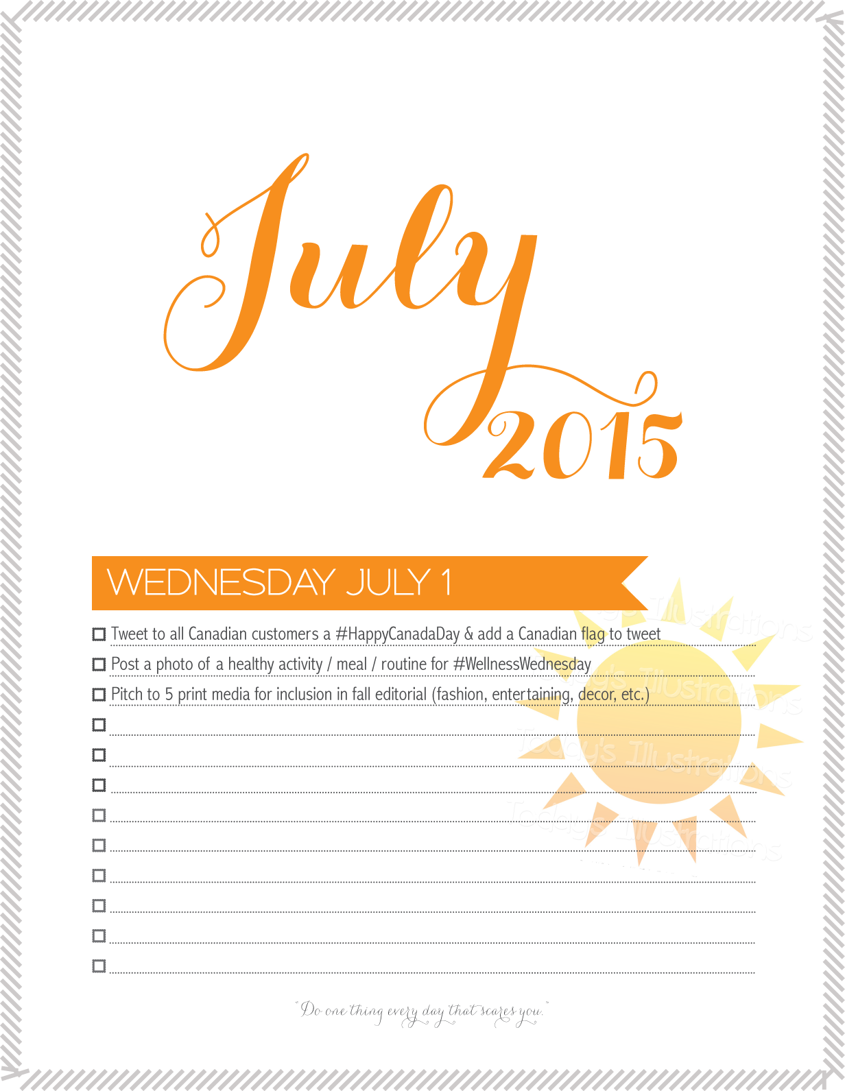 marketing calendar for july