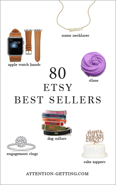 What to Sell on Etsy with 80 Etsy Best Sellers - Attention